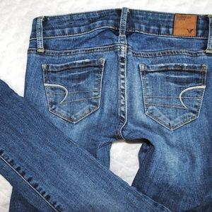 American Eagle AE Skinny Low Rise Denim Jeans 00